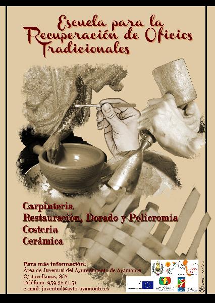 cartel-Taller de recuperación de oficios tradicionales. Ayto. Ayamonte(Huelva)